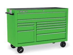 snap on green tool boxs