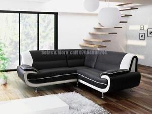 Perfect White Leather Corner Sofas