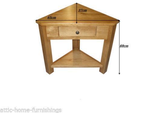 Incroyable Oak Corner Table | EBay