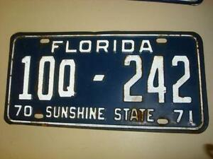 License Plate Florida Antique & Florida License Plate | eBay