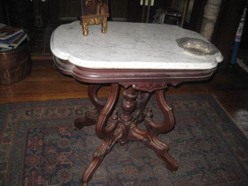 Beautiful Victorian Marble Top Table | EBay