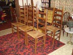 Charmant Ladder Back Chair Rush Seat