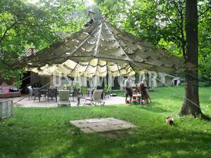 US Parachute Party Tent Garden Canopy Sun Shade Gazebo Wedding Patio Umbrella & Used Party Tents | eBay