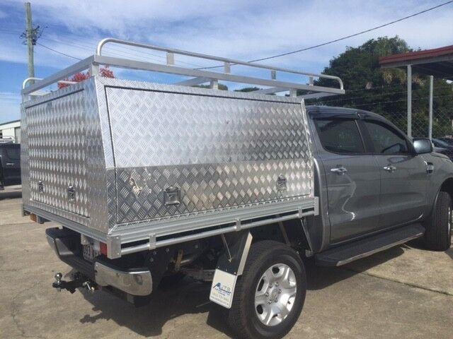 Aluminium Ute Tray/Canopy Combo Unit Suit Hilux Dual Cab 2015+ 3D Checkerplate & Aluminium Ute Tray/Canopy Combo Unit Suit Hilux Dual Cab 2015+ 3D ...