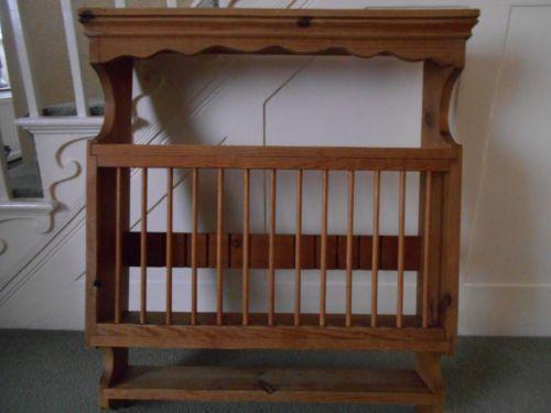 & Pine Plate Rack | eBay