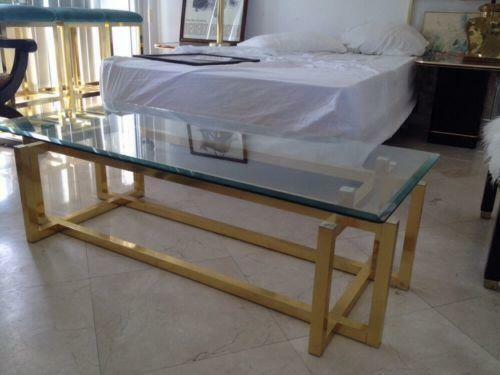 Brass Coffee Table   EBay