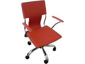 Lovely Red Leather Office Chair
