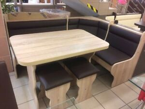 kitchen dining corner seating bench table 2 stools with storage