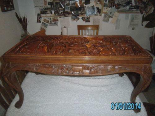 Superbe Asian Carved Table | EBay