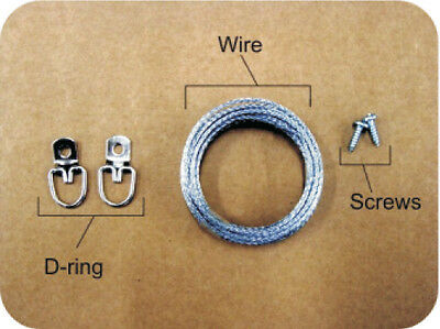 Wire Photo Hanger how to install a picture frame wire hanging kit | ebay