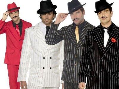 Gangster Kostüm 1920s Jahre Herren Outfit 20s Zoot Anzug Erwachsene Neu M-XL