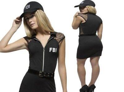 Erwachsene Fbi Polizist Kostüm American Polizist Damen Kostüm UK - Weibliche Polizisten Kostüm
