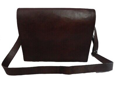 Men's Brown Leather Messenger Bag 15 Inch Macbook Satchel La
