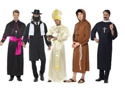 Religiös Figur Pfarrer Nonne Priester Pope Rabbi Erwachsene Herren Kostüm Outfit