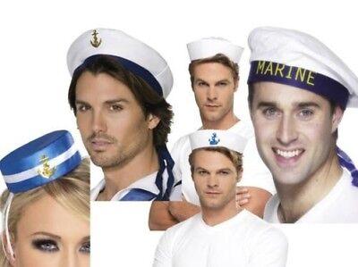 Matrosenmütze Damen Herren Us Marine Kapitän Offizier Kostüm (Offizier Kostüme Hat)