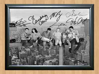 Friends Full Cast Signed Autographed A4 Print Poster TV Photo Show Series Comedy