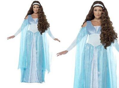 Mittelalterliche Maid Damen Deluxe Königin Ausgefallenes Kostüm Verkleidung (Mittelalterliche Maid Kostüme)