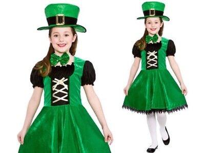 Mädchen Irischer Kobold Kostüm Kinder Irland Patricks Kostüm (Weibliche Kobold Kostüm)