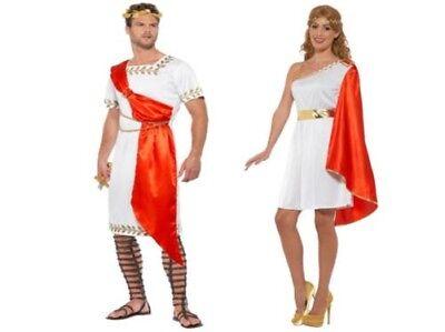 Damen Herren Toga Kostüm Römisch Griechisch Gut Göttin Schicke Verkleidung Neu