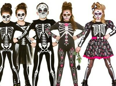 13 Days Of Halloween Day 3 (Girls Day of the Dead Costume Mexican Kids Halloween Fancy Dress Age)