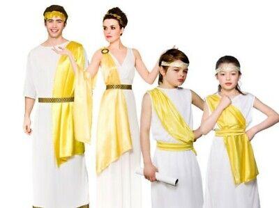 Griechische Göttin Römische Familie Kostüm Outfit Kinder Erwachsene Toga - Römische Griechische Toga Kostüm