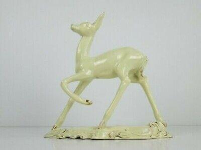 Vintage Statue Figure Fawn Ceramics Italian Enamel Period Xx Century