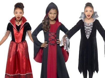Mädchen Vampirin Maskenkostüm Vampir Halloween Braut Dracula Neu