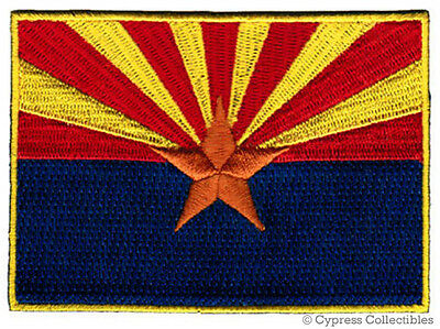 ARIZONA STATE FLAG embroidered iron-on PATCH EMBLEM new (Applique Embroidered Flag)