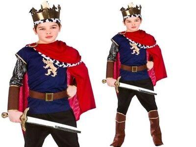 Jungen Kinder Deluxe König Artus Kostüm Geburt Kostüm Mittelalter Ritter Neu