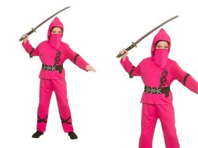 Rosa Stärke Ninja Mädchen Kampfsport Kostüm Alter 3-13