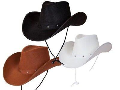 Texas Cowboy Wild West Rodeo Herren Damen Kostüm Zubehör Hut Neu
