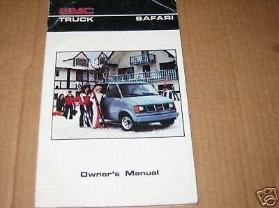 1986 GMC Safari Van Bedienungsanleitung 86 OWNER'S Neu 1986 86 Gmc Safari Van
