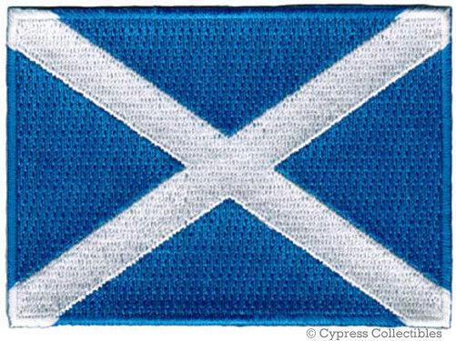 SCOTLAND FLAG embroidered iron-on PATCH SCOTTISH EMBLEM ST ANDREW CROSS SALTIRE