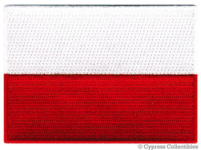 POLAND FLAG embroidered iron-on PATCH POLISH POLSKA new