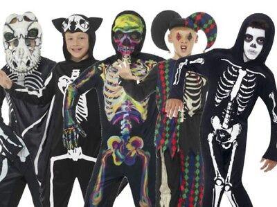 Jungen Skelett Kinderkostüme Halloween Kostüm Party Outfit Kinder Jungen Neu