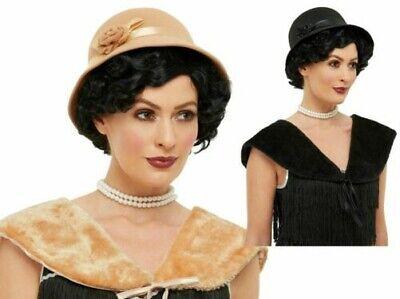 1920er Jahre Instant Flapper Satz Hut + Stahl Damen 20er Maskenkostüm Satz
