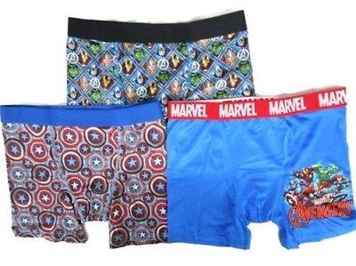 Handcraft Marvel 3-pack Pack Jungen Athletic Boxer Shorts Spandex Mischung Hulk (Jungen Unterwäsche Spandex)