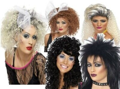 Erwachsene Lets Get Physical Perücke 80er Jahre Damen Wildes Kind Promi Kostüm ()