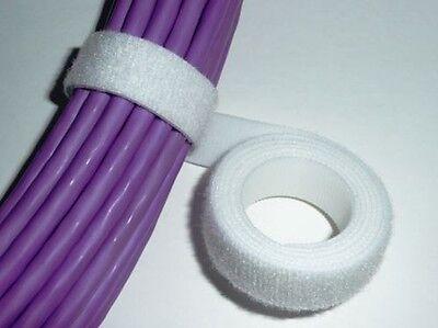20mm ATADURA DE CABLES CORREA DE VELCRO 25m BLANCO GENUINO Velcro