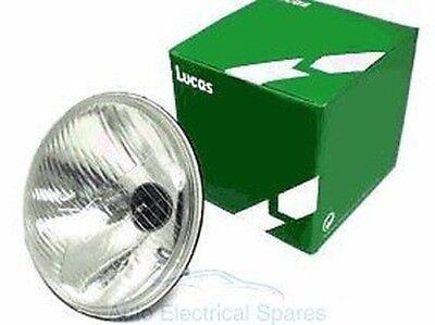 """Lucas LUB383 headlamp 7"""" RHD + PILOT H4 P43t HALOGEN CLASSIC Mini MGB TRIUMPH"""