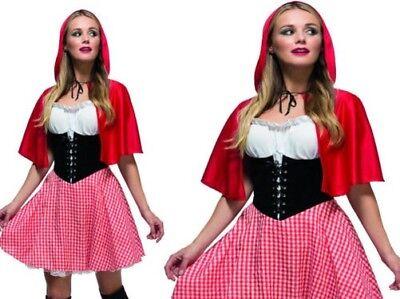 Märchen Fever Rotkäppchen Märchenbuch Damenmode Kleid Kostüm UK 8-18