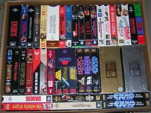 VHS movie collection with free VCR