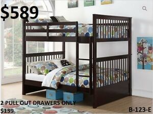 MIKE HAS A GREAT SELECTION OF DOUBLE/DOUBLE BUNKS $389!