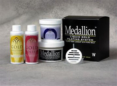 Medallion Gold Immersion System  Liquid Gold Plating Solution By Medallion   New