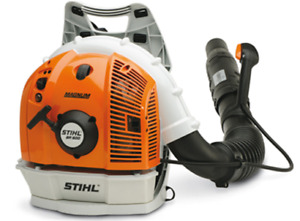 Stihl BR600 Commercial Backpack Blower Landscaping clean up