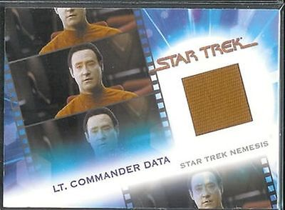 Complete Star Trek Movies Costume Card MC15 Lt. Commander Data - Data Star Trek Costume