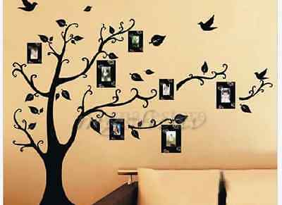 DIY Home Family Decor Photo Black Tree Removable Decal Wall Sticker Vinyl Art