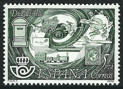 Spain 2104, MNH. Stamp Day. Symbols and Emblem of Postal Service, 1978