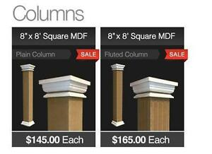 8 x 8 Square MDF Column BLOWOUT SALE