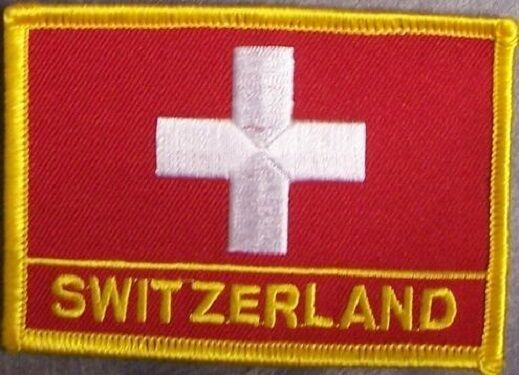 Embroidered International Patch National Flag of Switzerland NEW flag